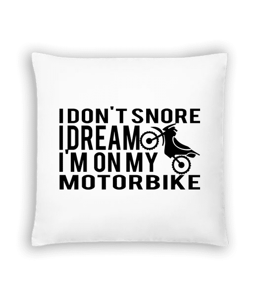 Dreaming Of My Motorbike - Cushion - White - Vorn