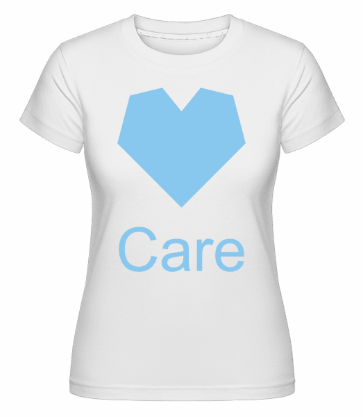 Care Heart -  T-shirt Shirtinator femme - Blanc - Vorn