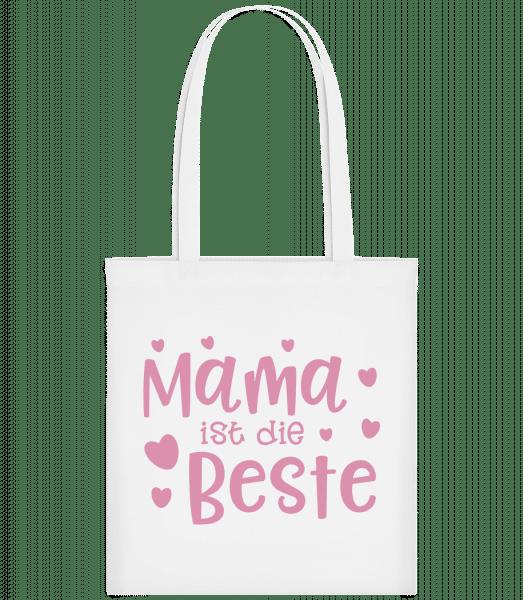 Mama Ist Die Beste - Stoffbeutel - Weiß - Vorn
