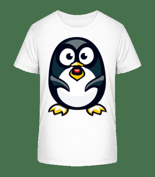 Love Penguin - Kid's Premium Bio T-Shirt - White - Vorn