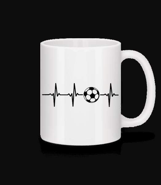 Heart Rate Football - Tasse - Weiß - Vorn