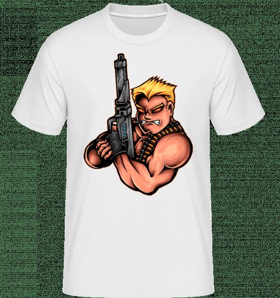 Armed Man -  Shirtinator Men's T-Shirt - White - Front