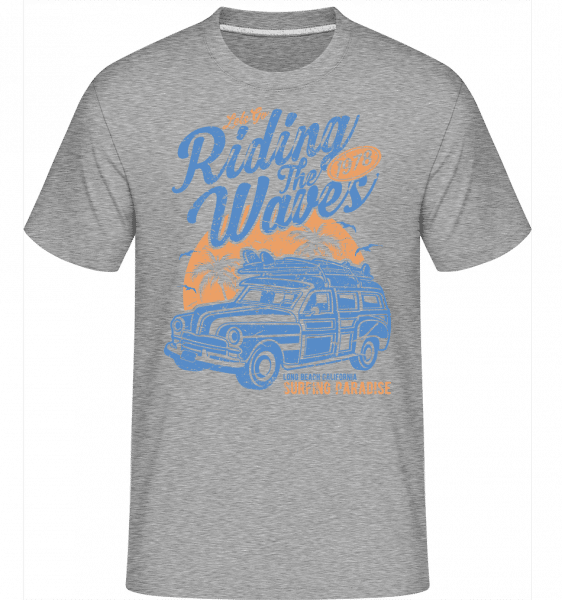 Riding The Waves -  Shirtinator Men's T-Shirt - Heather grey - Vorn