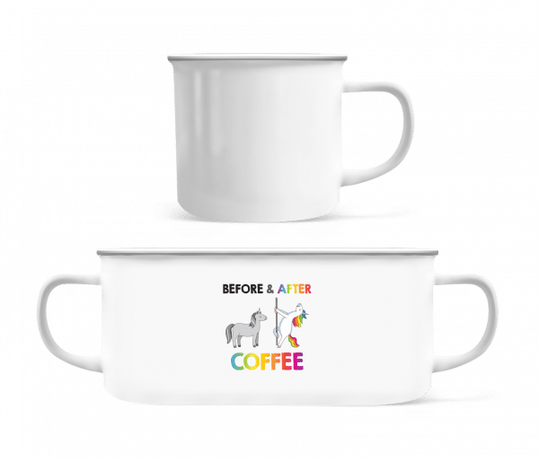 Befor After Coffee - Enamel-cup - White - Front