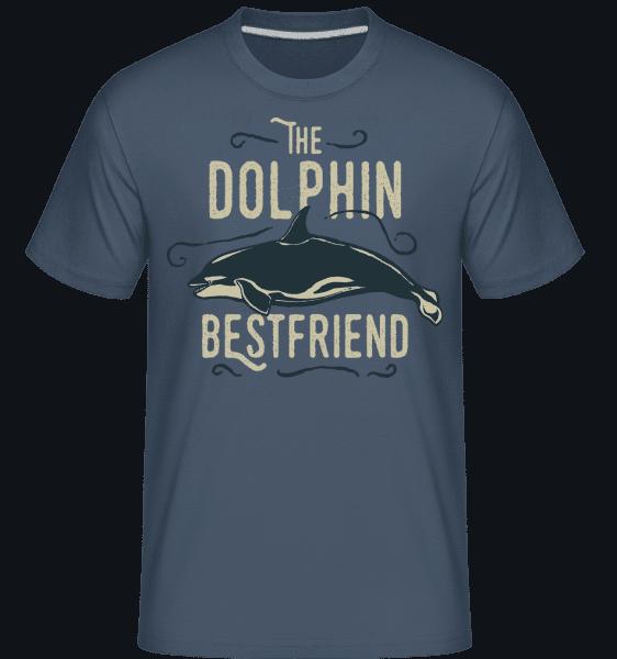 Best Friend Dolphin -  Shirtinator Men's T-Shirt - Denim - Vorn