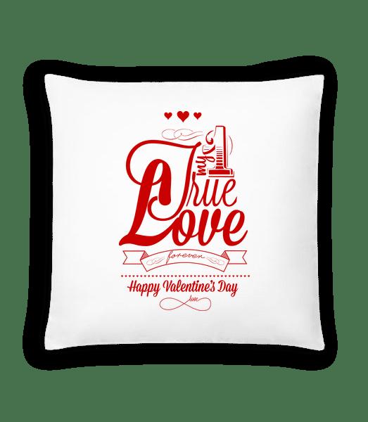 My True Love Valentine - Cushion - White - Vorn