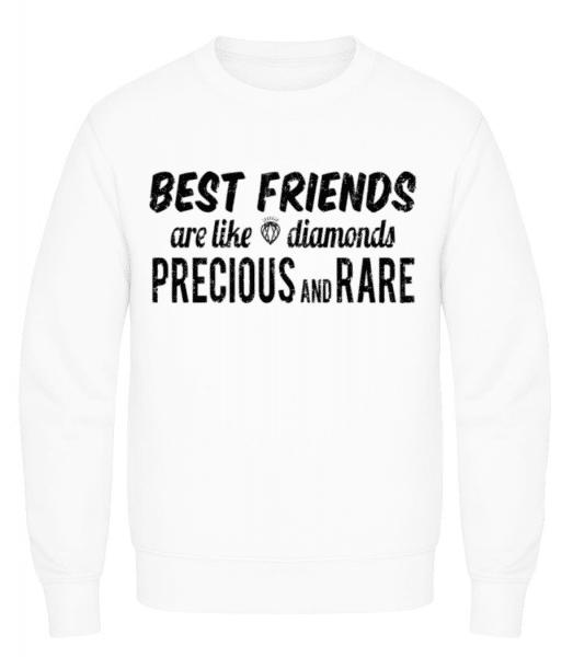 Best Friends Are Like Diamonds - Men's Sweatshirt - White - Front
