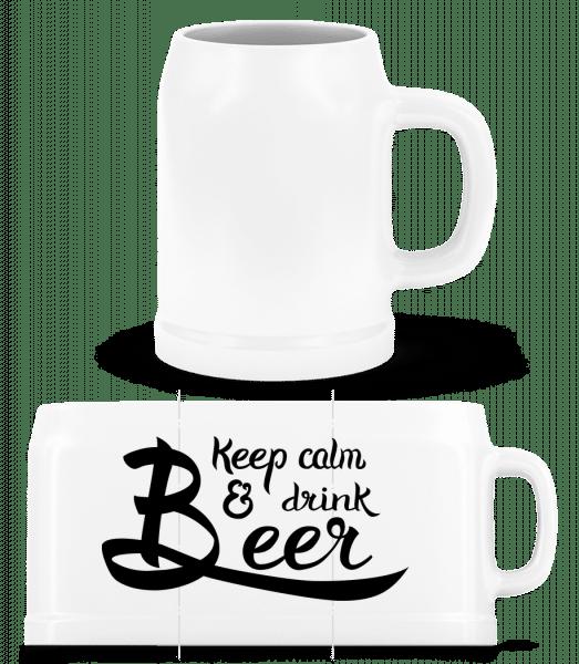 Keep Calm And Drink Beer - Beer Mug - White - Vorn