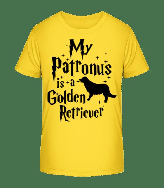My Patronus Is A Golden Retrieve - Kid's Premium Bio T-Shirt - Yellow - Vorn