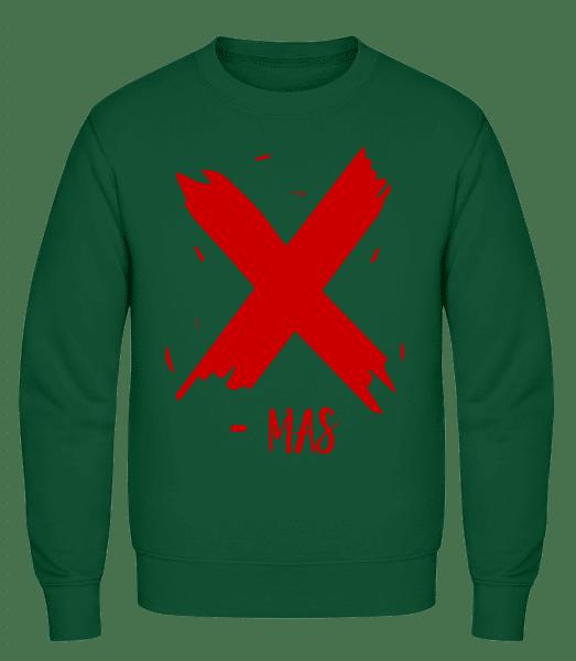 X - MAS - Men's Sweatshirt AWDis - Bottle green - Vorn