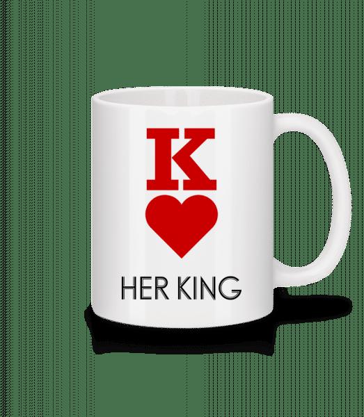 Her King - Mug en céramique blanc - Blanc - Devant