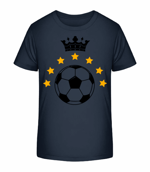 Football Crown - Kid's Premium Bio T-Shirt - Navy - Vorn