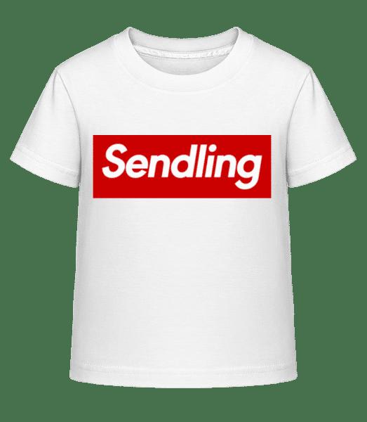 Sendling - Kinder Shirtinator T-Shirt - Weiß - Vorn