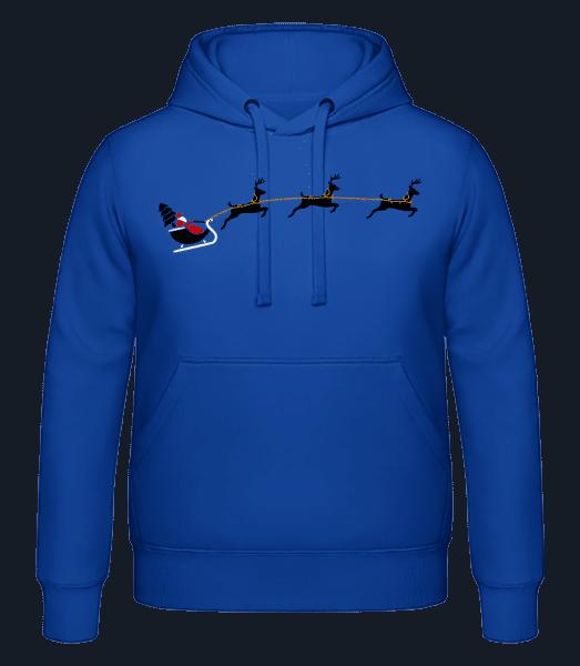 Weihnachten Renntiere - Männer Hoodie - Royalblau - Vorn