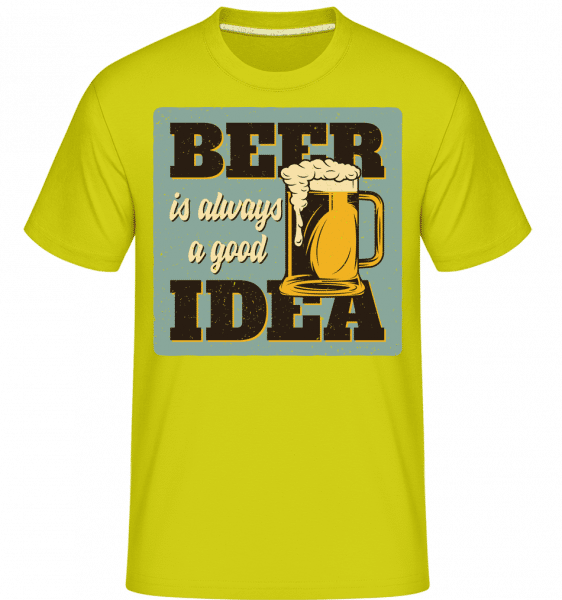 Beer Always Good -  Shirtinator Men's T-Shirt - Lime - Vorn