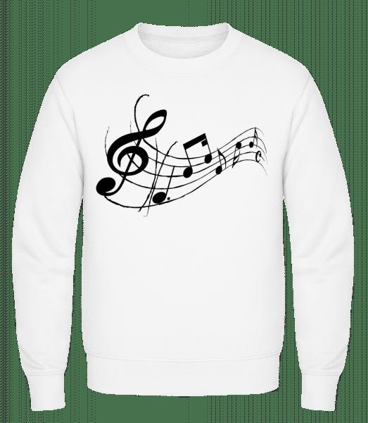 Music Notes Black - Classic Set-In Sweatshirt - White - Vorn