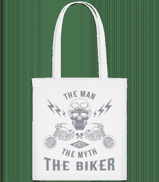 The Man The Myth The Biker - Taška Carrier - Biela - Predné