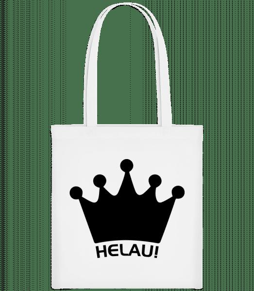 Karneval Helau - Stoffbeutel - Weiß - Vorn