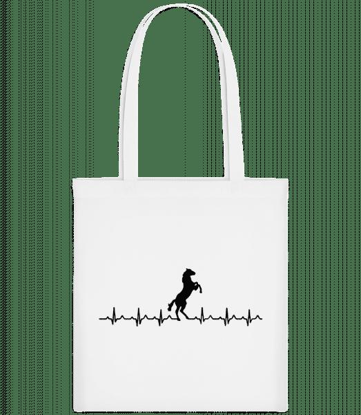 Horse Heartbeat - Carrier Bag - White - Vorn