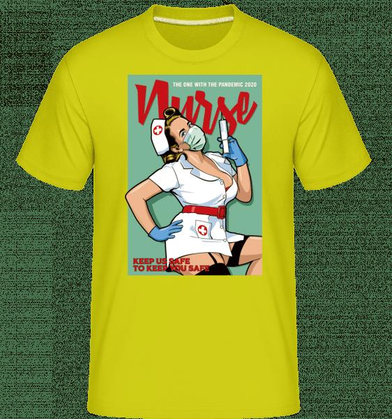 Nurse -  Shirtinator Men's T-Shirt - Apple green - Vorn