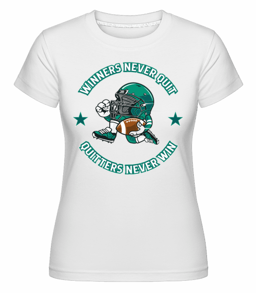 Football Player -  Shirtinator Women's T-Shirt - White - Vorn