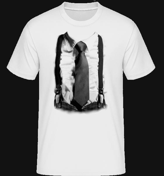 Suspenders And Tie -  Shirtinator Men's T-Shirt - White - Front