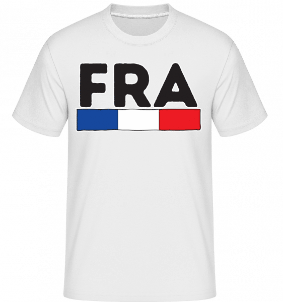 Football France -  T-Shirt Shirtinator homme - Blanc - Vorn