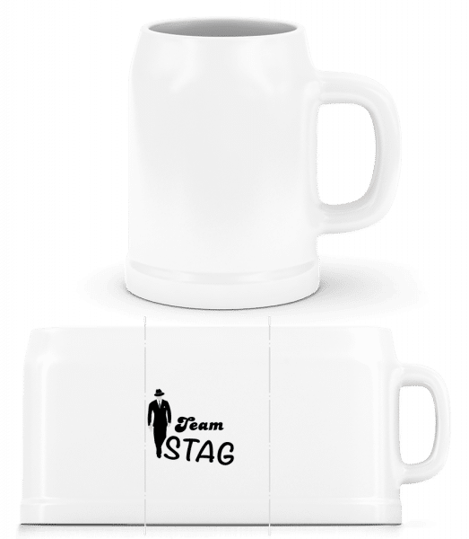 Team Stag - Beer Mug - White - Vorn