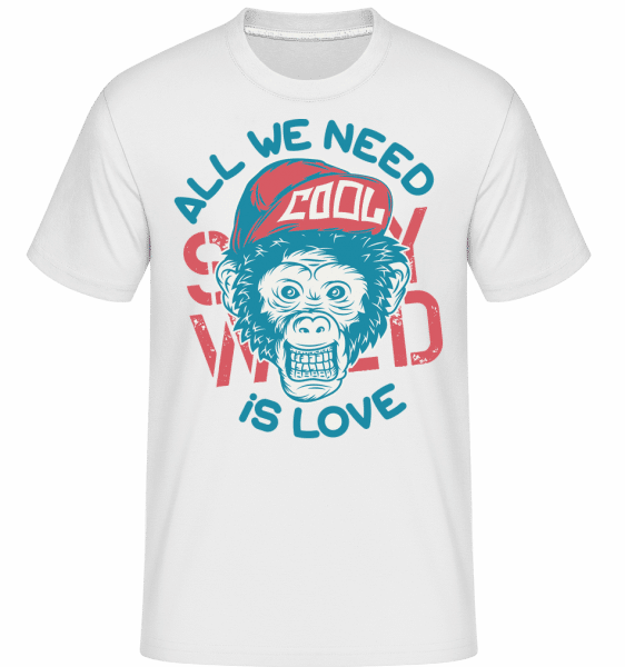 All We Need Is Love -  Shirtinator Men's T-Shirt - White - Front