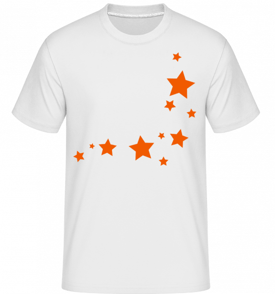 Stars -  Shirtinator Men's T-Shirt - White - Vorn