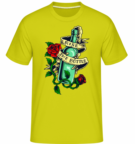 Rise The Bottle -  Shirtinator Men's T-Shirt - Apple green - Front
