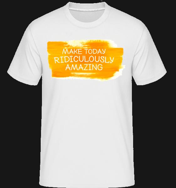Urobiť dnes Dokonalé -  Shirtinator tričko pre pánov - Biela - Predné