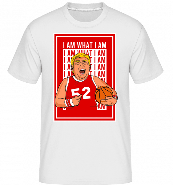 Trump Basketball -  Shirtinator Men's T-Shirt - White - Front