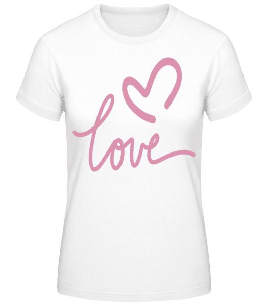 Love - Women's Basic T-Shirt - White - Front