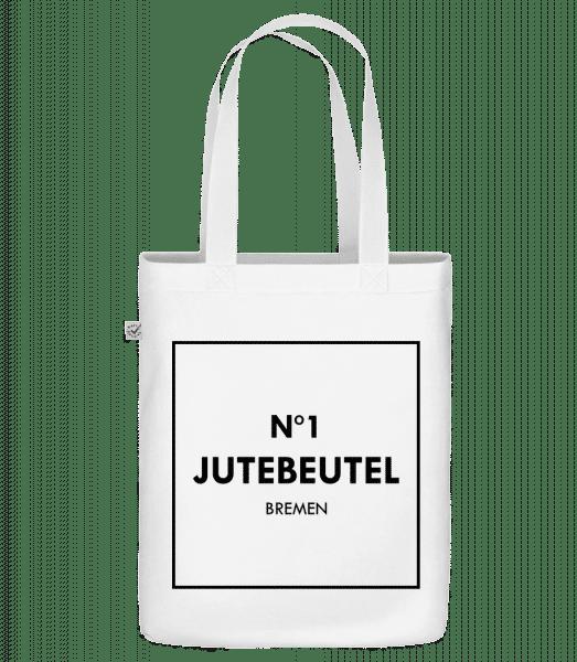 N1 Jutebeutel Bremen - Bio Tasche - Weiß - Vorn