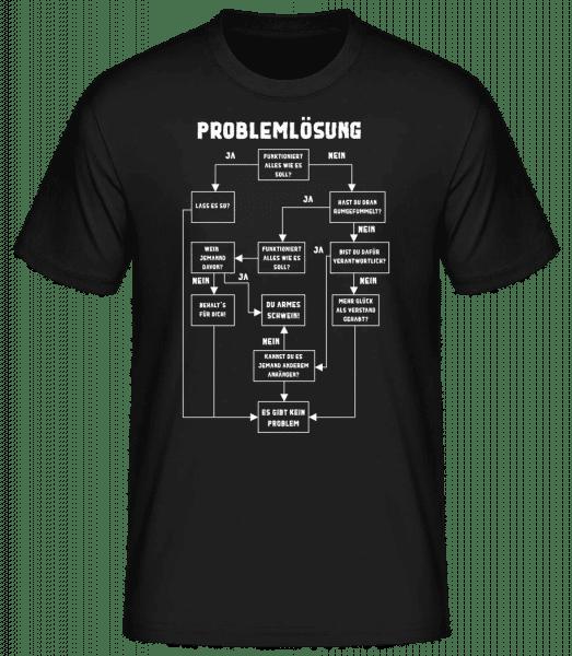 Problemlösung - Männer Basic T-Shirt - Schwarz - Vorn