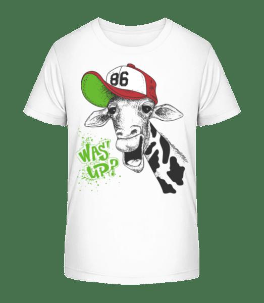 What's up? - Kid's Premium Bio T-Shirt - White - Vorn