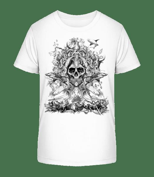 Water God Of Death - Kid's Premium Bio T-Shirt - White - Vorn