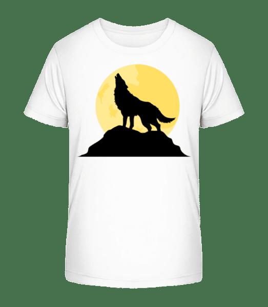 Gothic Wolf Sunset - Kid's Premium Bio T-Shirt - White - Vorn