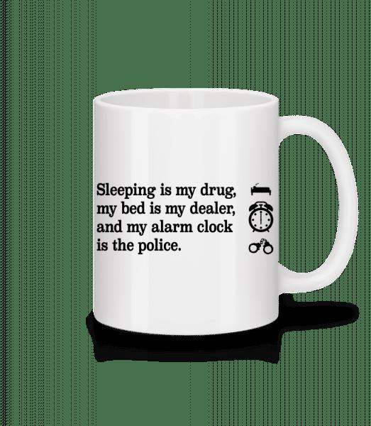 Sleeping Is My Drug - Mug - White - Vorn