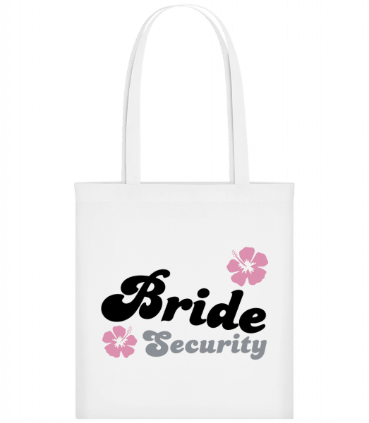 Bride Security Flowers - Carrier Bag - White - Vorn