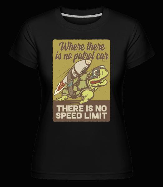 There Is No Speed Limit -  Shirtinator tričko pro dámy - Černá - Napřed