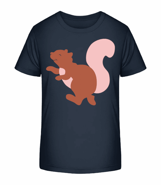 Kids Comic - Squirrel - Kid's Premium Bio T-Shirt - Navy - Front