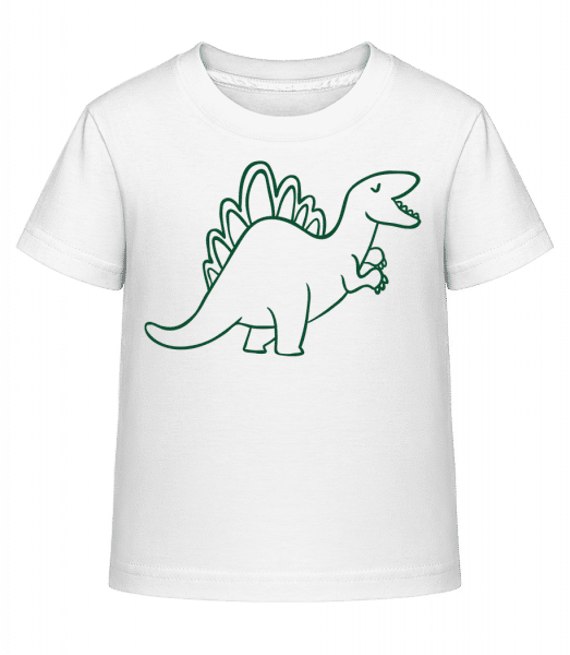Dinosaur Kids Green - Kid's Shirtinator T-Shirt - White - Vorn