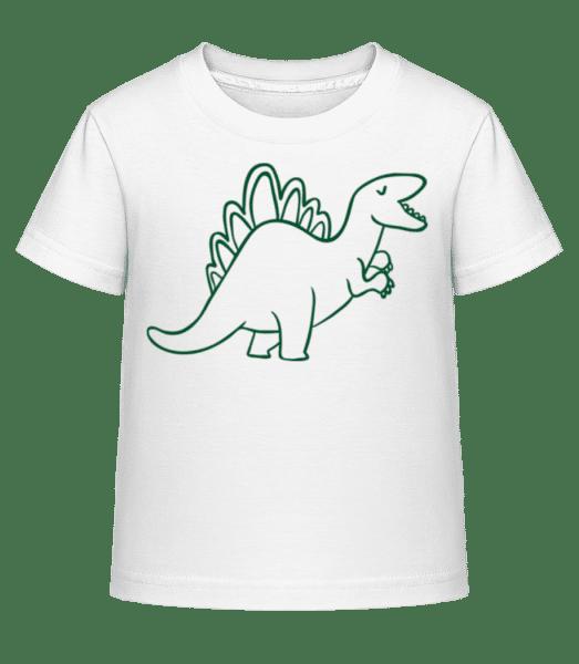 Dinosaur Kids Green - Kid's Shirtinator T-Shirt - White - Front