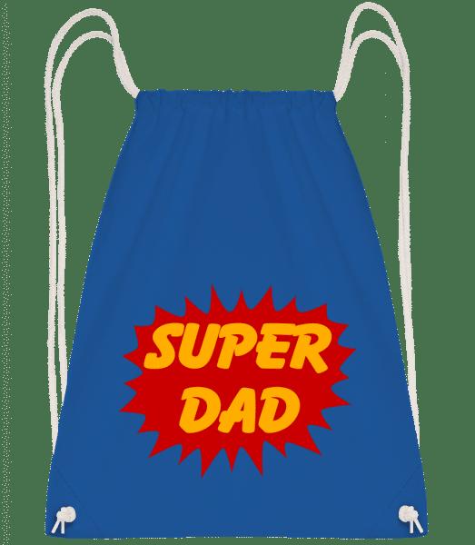 Super Dad - Drawstring Backpack - Royal blue - Vorn