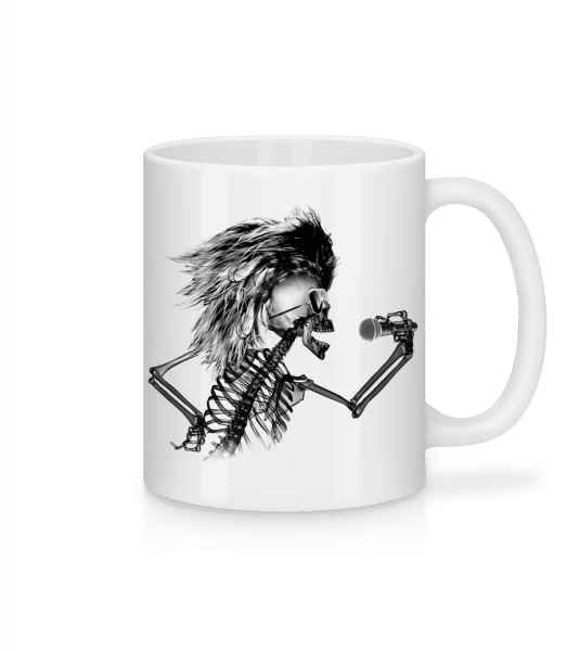 Singing Skeleton - Mug - White - Vorn
