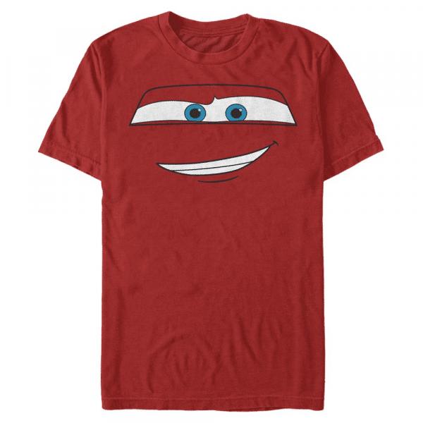 McQueen Big Face Lightning McQueen - Pixar Cars 1-2 - Men's T-Shirt - Red - Front