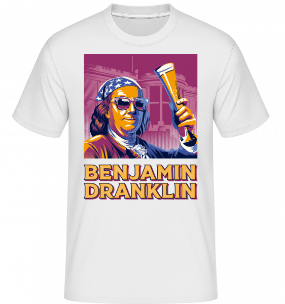 Benjamin Dranklin -  Shirtinator Men's T-Shirt - White - Front