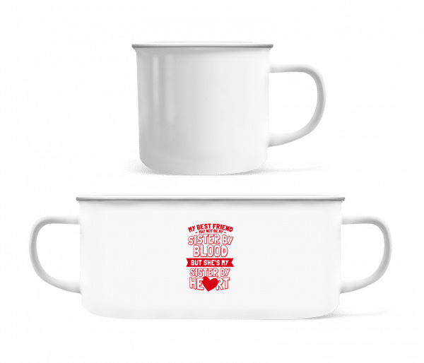 My Sister By Heart - Enamel-cup - White - Vorn